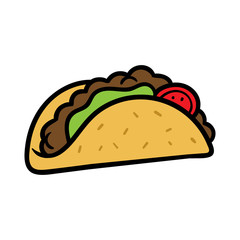 Cartoon Taco Illustration