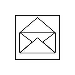 open letter envelope icon. Element of Media for mobile concept and web apps icon. Thin line icon for website design and development, app development