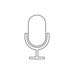 microphone icon. Element of web for mobile concept and web apps icon. Thin line icon for website design and development, app development
