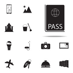 passport icon. summer pleasure icons universal set for web and mobile