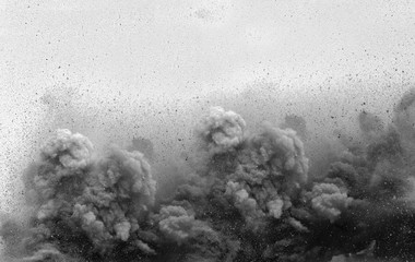 Blast on the mining site