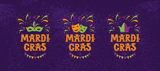 Mardi gras carnival party design
