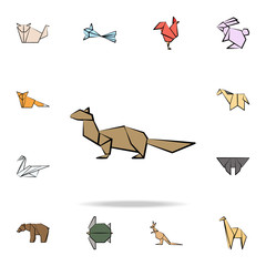 sable colored origami icon. Detailed set of origami animal in hand drawn style icons. Premium graphic design. One of the collection icons for websites, web design, mobile app