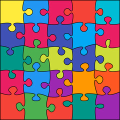 25 Colorful Background Puzzle Jigsaw Puzzle Banner