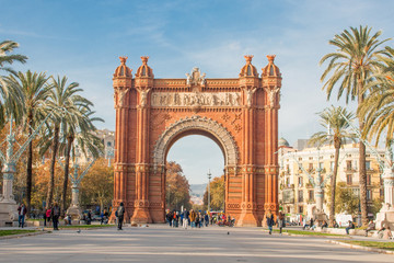 Foto op Aluminium Barcelona Arc de Triomf Passeig de Lluís Companys Barcelona Katalonien