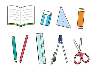 文房具のイラストセット