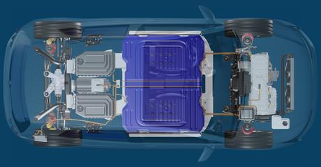 Elektroantriebstechnik bei einem PKW