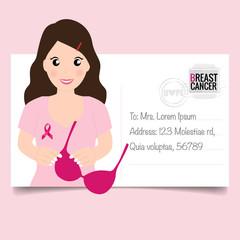 Breast Cancer Awareness Month background design. Vector Illustration
