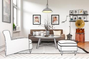 Modern Retro Style Furnishing (project)