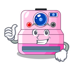 Thumbs up instant camera with revoke cartoon picture