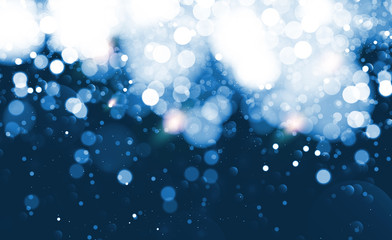 Abstract blue bokeh effect background. Vector illustration.