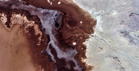 abstract photography of the deserts of Africa from the air,aerial view, abstract expressionism,...