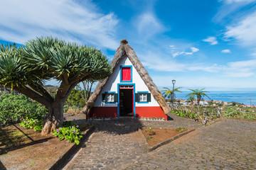 Wall Mural - Traditional rural house, Santana Municipal Council, Madeira island, Portugal