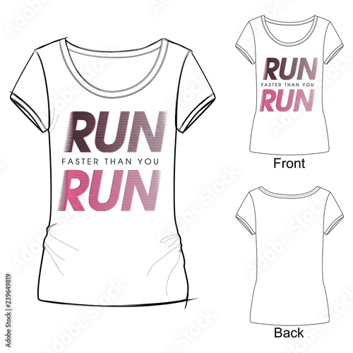 fe15ea77 Vector illustration of black and pink sport fashion print t shirt,  lettering