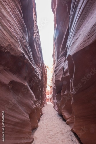 Scenic beauty of the famous Antelope Canyon in Arizona  It