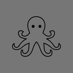 Illustration of an octopus icon