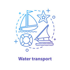 Water transport concept icon