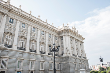 Image of the Royal Palace of Madrid, which is the official Spanish Royal Family residence. It is located in the city of Madrid. The architecture is jaw dropping.