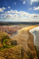 Nazare is a popular seaside resorts in Portugal