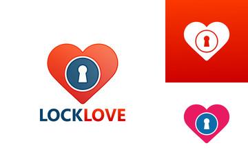 Lock Love Logo Template Design Vector, Emblem, Design Concept, Creative Symbol, Icon