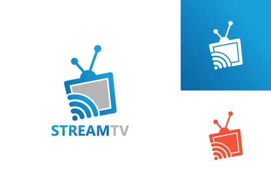 Streaming Television Logo Template Design Vector, Emblem, Design Concept, Creative Symbol, Icon