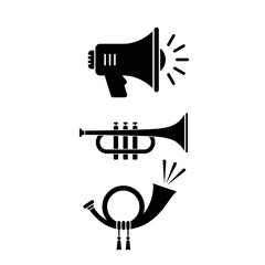 Sound instrument vector icon