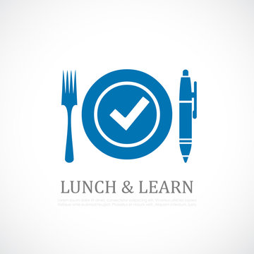Lunch and learn symbol