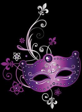Karneval Maske Fleur De Lis Fleur de Lys Fasching Mardi Gras Blumen