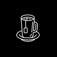Vector icon and logo hot drinks for cold weather . Editable outline stroke size. Line flat contour, thin and linear design. Simple icons. Concept illustration. Sign, symbol, element.