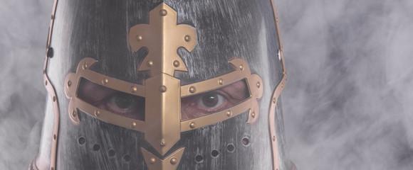 portrait of a knight in a helmet