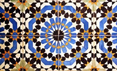 Azulejos de arte islámico antiguos.