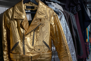 Biker-style jackets by fashion brand Altiir made with Pinatex in London