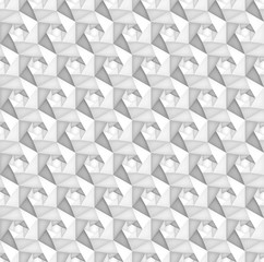 Volume realistic vector hexagon seamless  pattern, light geometric tiles texture, design white background for you projects