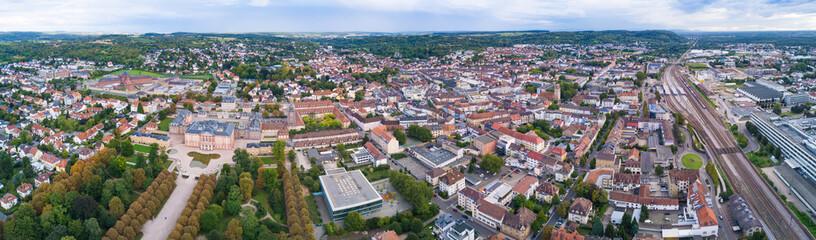 Bruchsal Schloss ganze Stadt Panorama