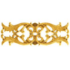 Gilded stucco, collection gold cartouch