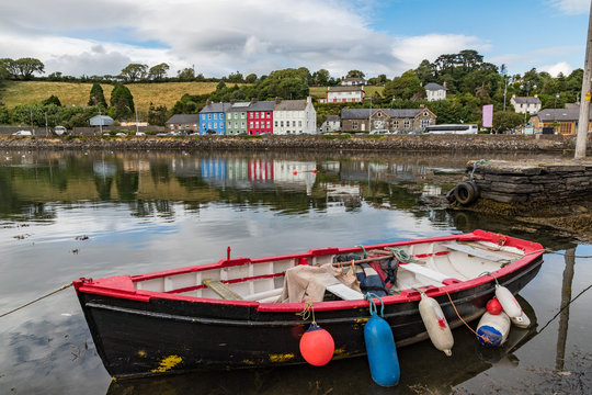 Old fishing boat docked in the small coastal  town of Bantry, Ireland