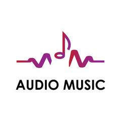 Music icon vector. Play music logo.