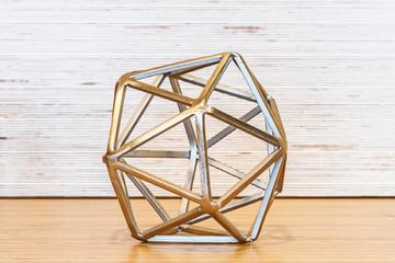 Metal Geometric Tabletop Sculpture