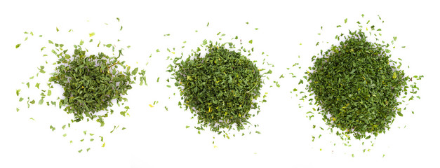 dried parsley isolated on white background