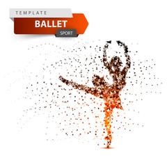 Ballet, sport, dancing girl illustration.