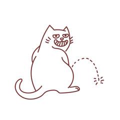 Hooligan cat peeing on the floor