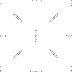 Camp knife icon. Outline illustration of camp knife vector icon for web design isolated on white background