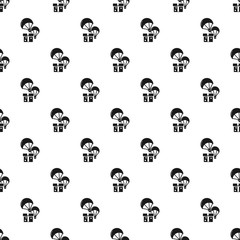 Donation parachute box pattern seamless vector repeat for any web design