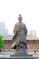ancient Chinese characters statue in the park, shijiazhuang city, hebei province, China