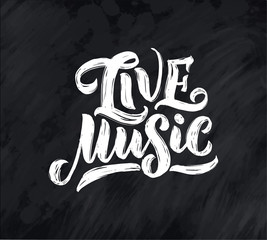 Quote about music. Hand drawn vintage illustration with hand drawn lettering. Phrase for print on t-shirts and bags, stationary or as a poster.