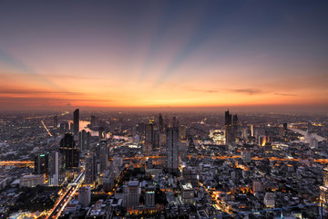 Bangkok im Sonnenuntergang