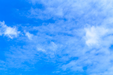 Blue sky with beautiful cloudy. Background with copy space.