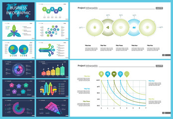 Creative business infographic design for startup concept. Can be used for business project, annual report, web design. Option chart, process chart, organizational chart, donut diagram, flowchart