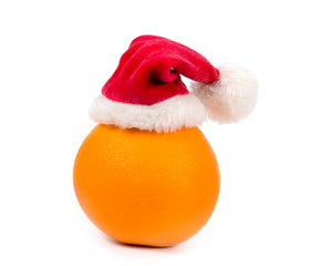 Christmas orange on white background
