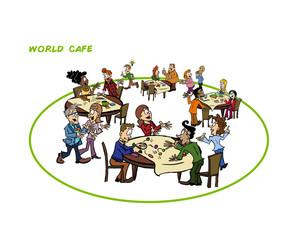 World cafe illustration